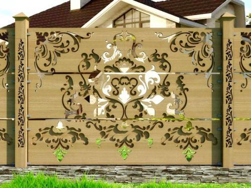Оригинальные заборы. Установка деревянного забора на даче своими руками: фото конструкций