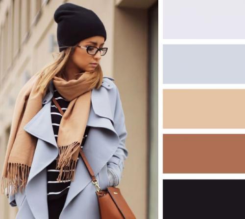 Сочетание бежевый и серый. Сочетание бежевого и серого в одежде