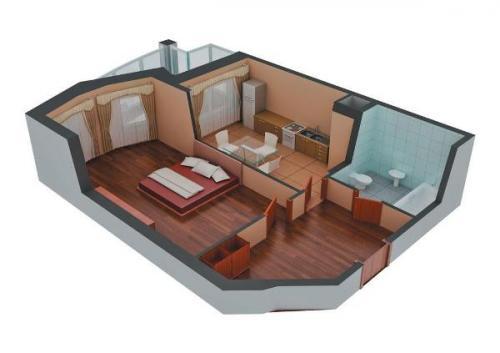 Как из 1 сделать 2 комнаты. Как из 1 комнатной квартиры сделать 2 комнатную