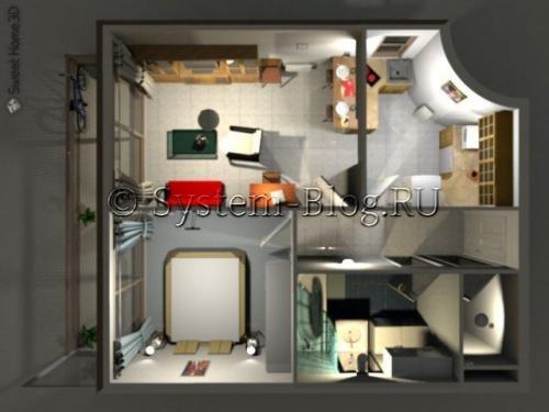 Перестановка мебели в комнате онлайн. Программа для расстановки мебели и интерьере: кроссплатформенный Sweet Home 3D