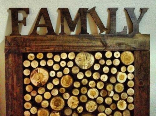 Спилы дерева в интерьере своими руками. Выбор дерева для украшения стены
