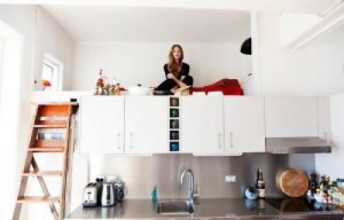 Спальня кухня гостиная в одной комнате. Кухня и спальня в одной комнате!