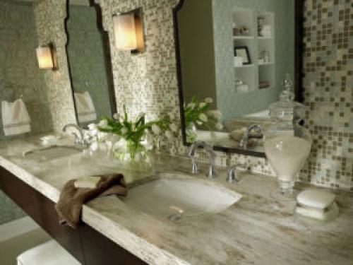В ванной искусственный камень. Искусственный камень для ванной комнаты: правила оформления