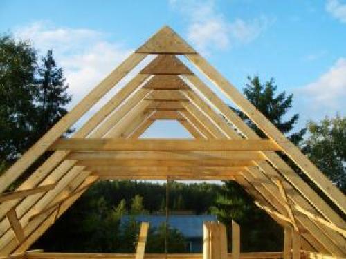 Двускатная крыша стропильная система. Из каких элементов состоит и каких видов бывает стропильная система двухскатной крыши