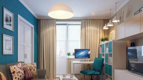 Гостиная с рабочим местом дизайн. Гостиная с рабочим местом: тонкости зонирования помещения