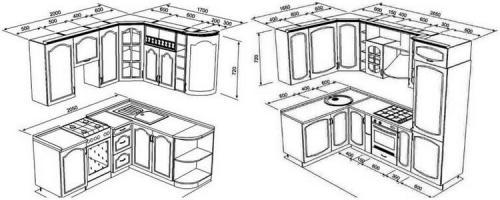 Встроенная кухня угловая. 60 фото кухонных угловых гарнитуров для маленькой кухни