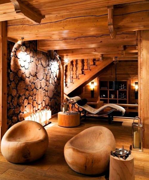 Дизайн интерьера в деревянном доме. Обустройство внутреннего интерьера деревянного дома