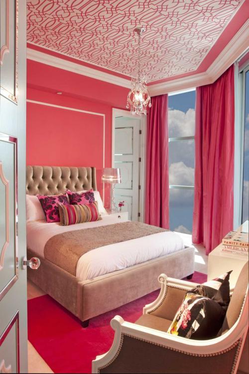 С какими цветами сочетается розовый цвет в интерьере. Розовый в составе разных цветовых решений помещения