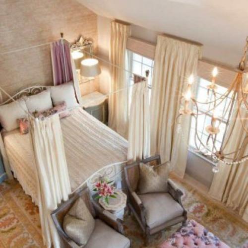 Кровать с балдахином в спальне дизайн. Нюансы выбора материи
