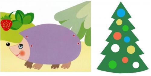 Поделки для детей из бумаги. Аппликации из цветной бумаги для дошкольников