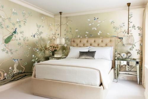 Какие обои должны быть в спальне. Какие обои выбрать в спальню: выбор цвета и материала