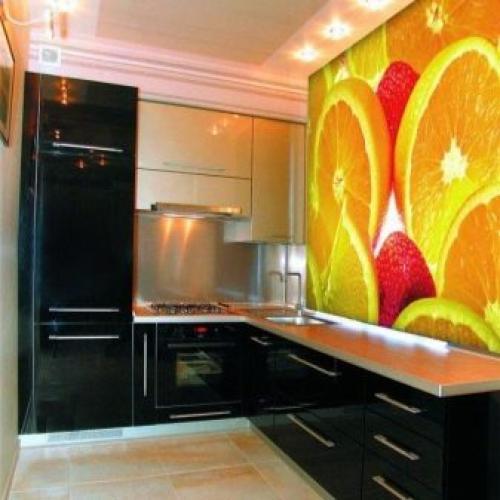 Дизайн кухни с зелеными обоями. В каком стиле оформить кухню с зелеными обоями? 10
