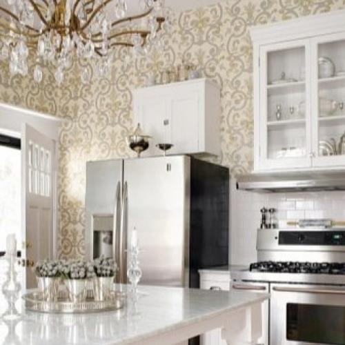 Дизайн кухни с зелеными обоями. В каком стиле оформить кухню с зелеными обоями? 09