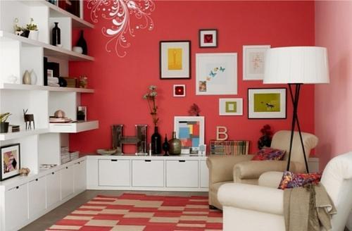 Гостиная в красном цвете. Особенности дизайна красной гостиной