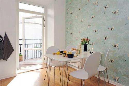 Дизайн кухни с зелеными обоями. В каком стиле оформить кухню с зелеными обоями? 12