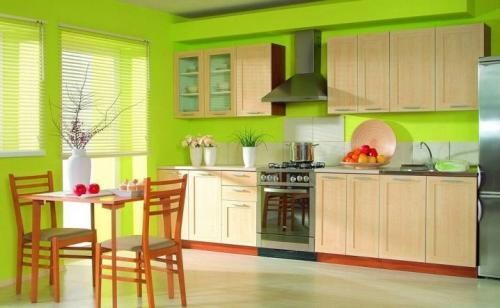 Дизайн кухни с зелеными обоями. В каком стиле оформить кухню с зелеными обоями? 08