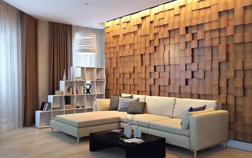 Панно на стену из дерева своими руками. Потрясающий декор стены за небольшие деньги – эффектное 3D панно из деревянных брусков