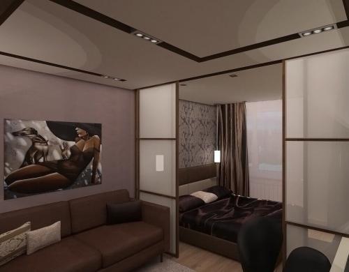 Дизайн спальня и гостиная в одной комнате. Как совместить гостиную со спальней?
