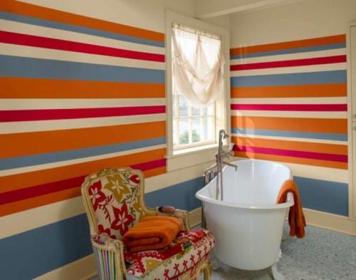 В ванной покрашенные стены. Почему стоит покрасить стены в ванной