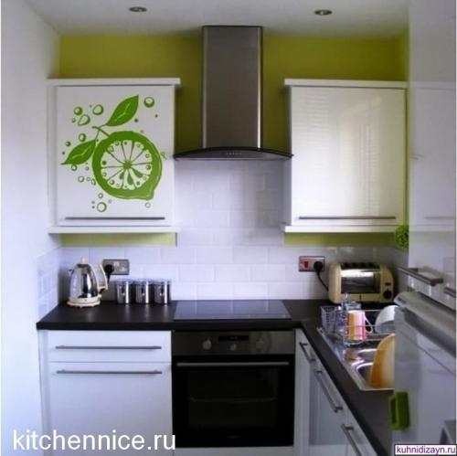 Дизайн кухни в малогабаритной кухни. Мебель, какого цвета подойдёт для малогабаритной кухни