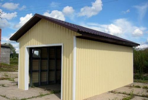 Отделка внутри гаража профнастилом. Как можно своими руками обшить гараж профлистом снаружи, пошаговая инструкция