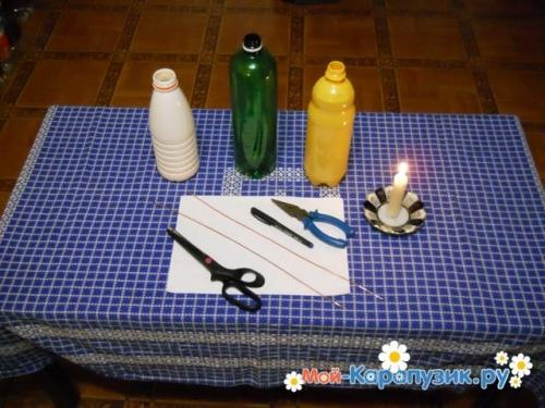 Ромашки из пластиковых бутылок. Как сделать ромашку из пластиковых бутылок.