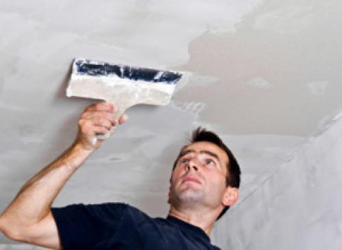 Как покрасить двухуровневый потолок из гипсокартона. Подготовка основания для покраски