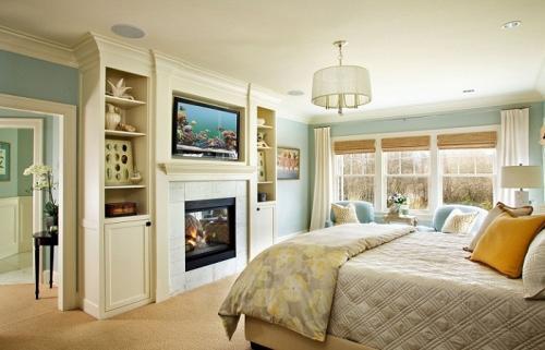 Спальня в квартире с камином. Камин в вашей спальне – лучшие идеи