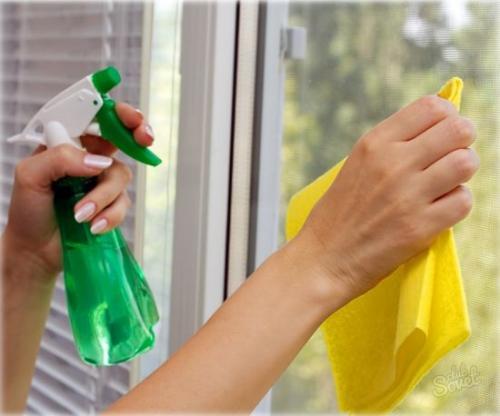 Мытье окон уксусом