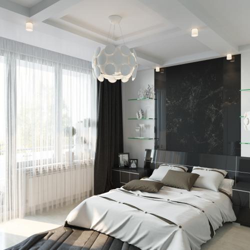 Спальня в черно белом стиле. Черно-белая спальня — особенности использования сочетания. 135 фото лучших примеров использования черно-белого формата