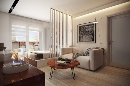 Дизайн комнаты 18 кв м с двумя окнами. Выбираем цвет интерьера спальни-гостиной