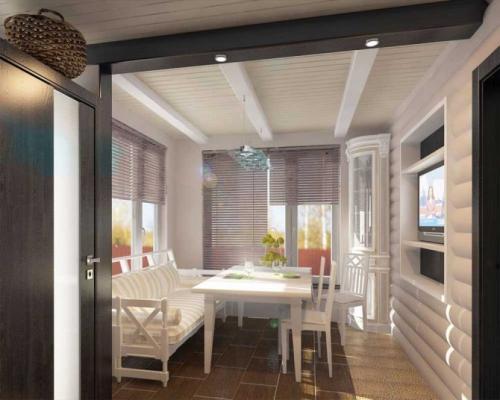 Потолок с балками на кухне. Стили интерьеров, где балочные конструкции наиболее уместны