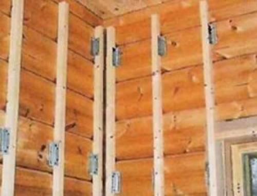 Выравнивание стен деревянных. Выравнивание стен в деревянном доме