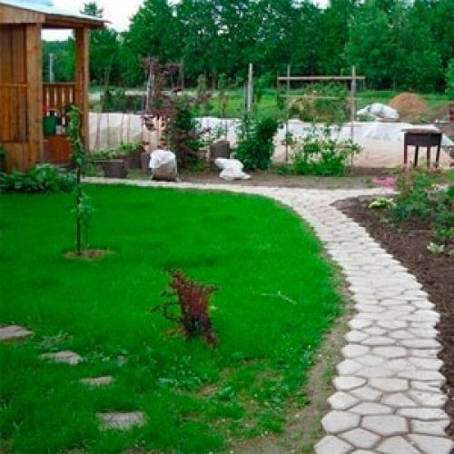 Формы своими руками для изготовления садовых дорожек. Садовая дорожка своими руками при помощи формы