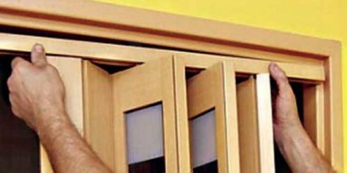 Как укоротить дверь гармошку. Как снять складную дверь?